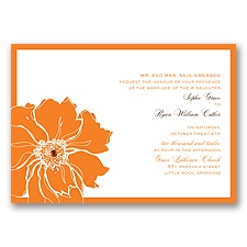 Floral Focus Wedding Invitation
