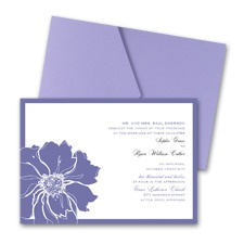 Floral Focus Wedding Invitation with Pocket