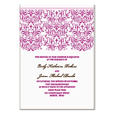 Elegant Filigree Wedding Invitation