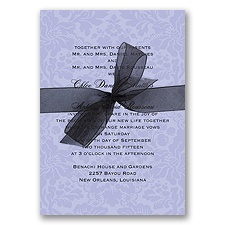 Damask Wedding Invitation - Orchid