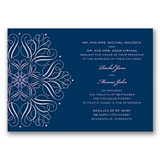 Mod Medallion Wedding Invitation - Freesia