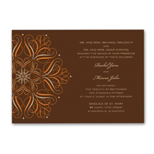Mod Medallion Wedding Invitation - Champagne