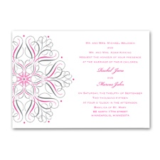 Mod Medallion Wedding Invitation - White