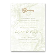 Key to My Heart Wedding Invitation - Olive