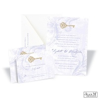 Key to My Heart Wedding Invitation - Orchid