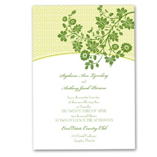 Garden Trellis Wedding Invitation - Cloverleaf