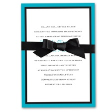 Bold Double Border Wedding Invitation - Palm