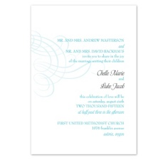 Swirling Filigree Wedding Invitation - Palm