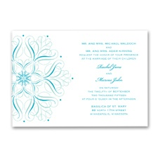 Mod Medallion Wedding Invitation - Palm
