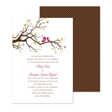 Bright Birds Wedding Invitation