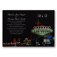 Very Vegas Wedding Invitation