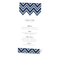 Sleek Chevron Menu Card