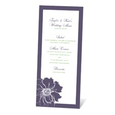 Floral Focus Menu Card