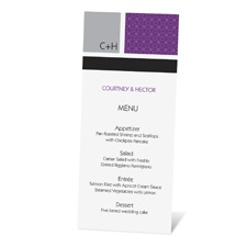 Patterned Colors Menu Card