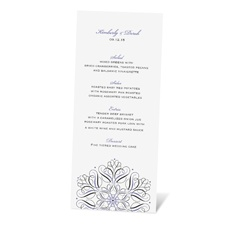 Mod Medallion Menu Card