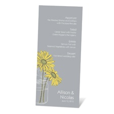 Daisy Daisy Menu Card