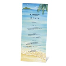 At the Beach Menu Card