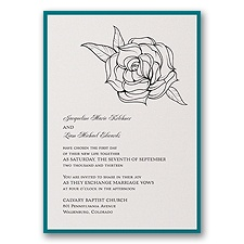 Ecru Shimmer Layered Wedding Invitation