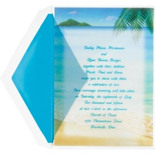 Wedding in Paradise Wedding Invitation