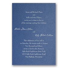 Blue Shimmer Wedding Invitation