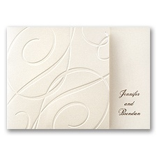 Premier Swirls Wedding Invitation
