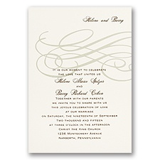 Elegant Swirls Wedding Invitation