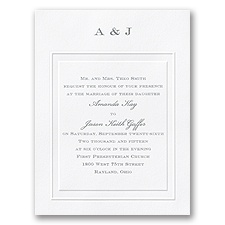 Stylish Frame Wedding Invitation