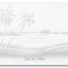 Tropical Sunset Wedding Invitation