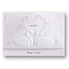 Graceful Swans Wedding Invitation