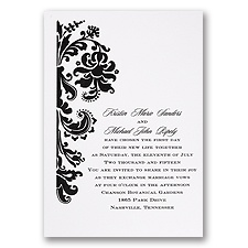 White Wedding Invitation Card