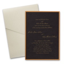 Black Layered Wedding Invitation with Pocket