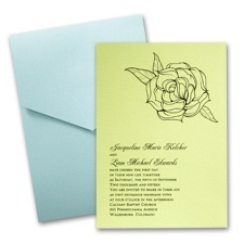 Margarita Wedding Invitation Card with Pocket