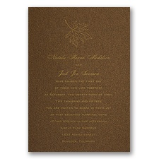 Mocha Shimmer Wedding Invitation Card