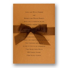 Copper Shimmer Wedding Invitation Card