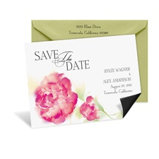 Watercolor Floral Save the Date Magnet