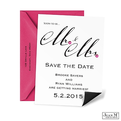 Mr. & Mrs. Save the Date Magnet