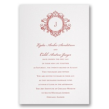 White Shimmer Wedding Invitation Card
