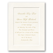 Ecru Classic Folder Wedding Invitation