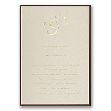 Champagne Shimmer Layered Wedding Invitation