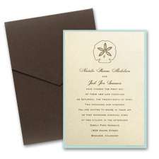 Champagne Shimmer Layered Wedding Invitation with Pocket