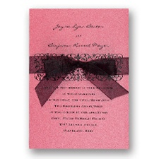 Hot Pink Shimmer Wedding Invitation Card