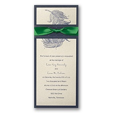 Champagne Layered Wedding Invitation