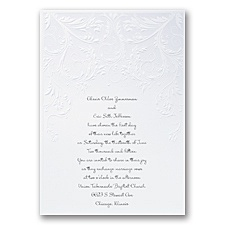 Shaded Swirls Wedding Invitation