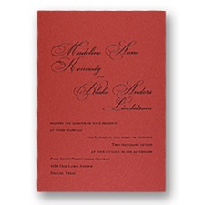 Red Shimmer Wedding Invitation Card