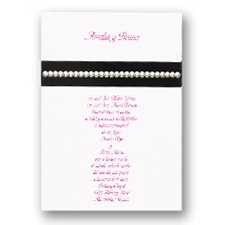 Black and Bling Wedding Invitation