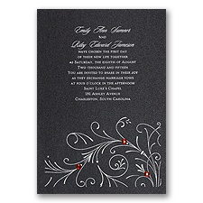 Black Shimmer Wedding Invitation Card