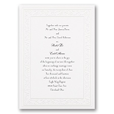 Glistening Pearl Wedding Invitation