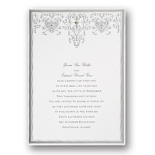 Silver Elegance Wedding Invitation