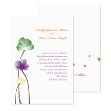 Whimsical Watercolor Wedding Invitation