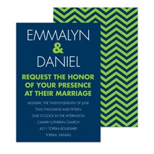 Chevron Type Wedding Invitation